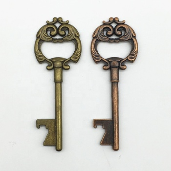 Amazon hotsale Party Gifts for guests wedding Return gift for man Zinc Alloy Big size Skeleton key Beer Bottle Opener