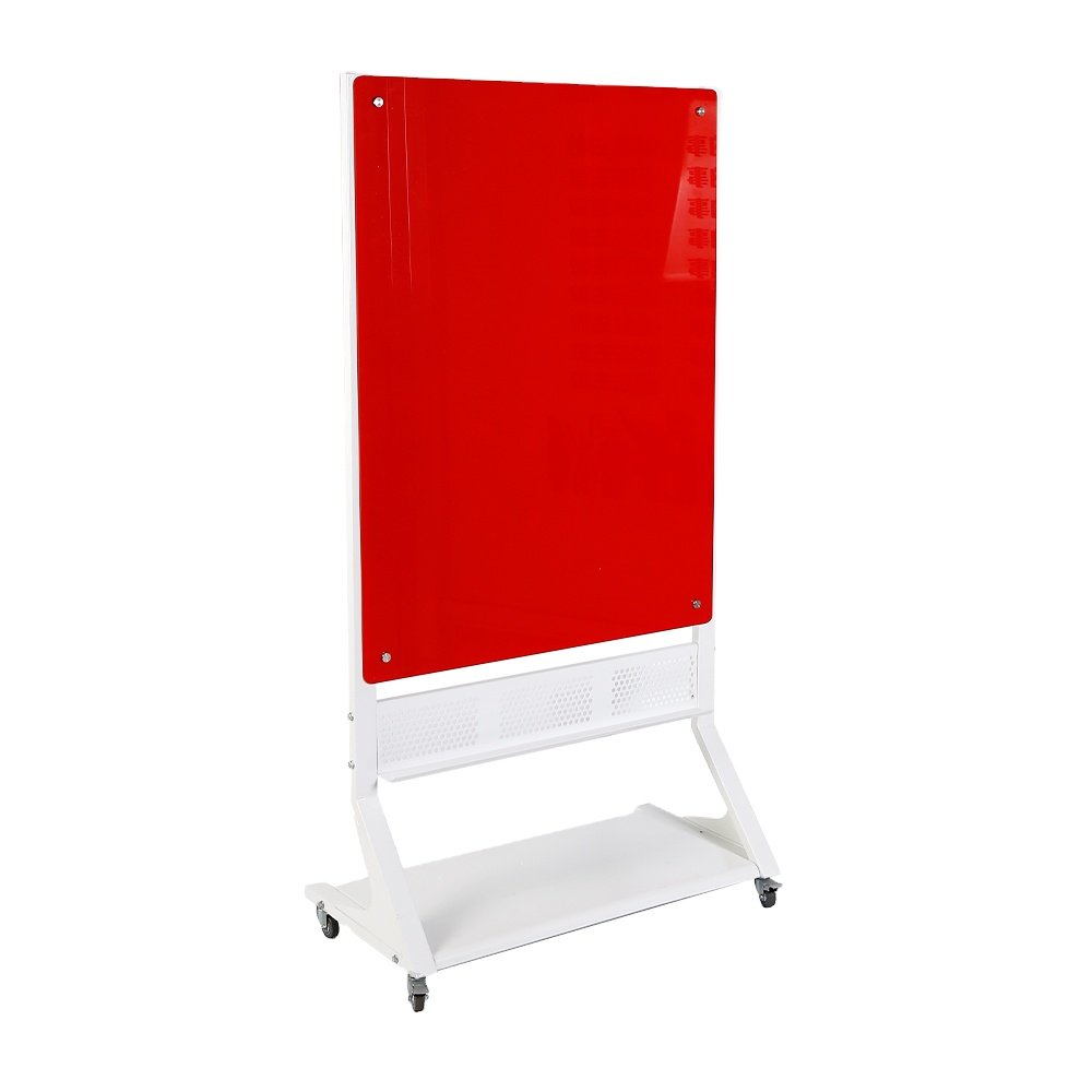 Office movable Magnetic Glass whiteboard with wheels stand glass dry erase magnetic writing board - Yola WhiteBoard | szyola.net
