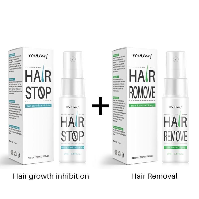 Спрей для безболезненного удаления волос, ингибитор роста волос для лица, бороды, бикини, ног, тела, подмышек, 20 мл