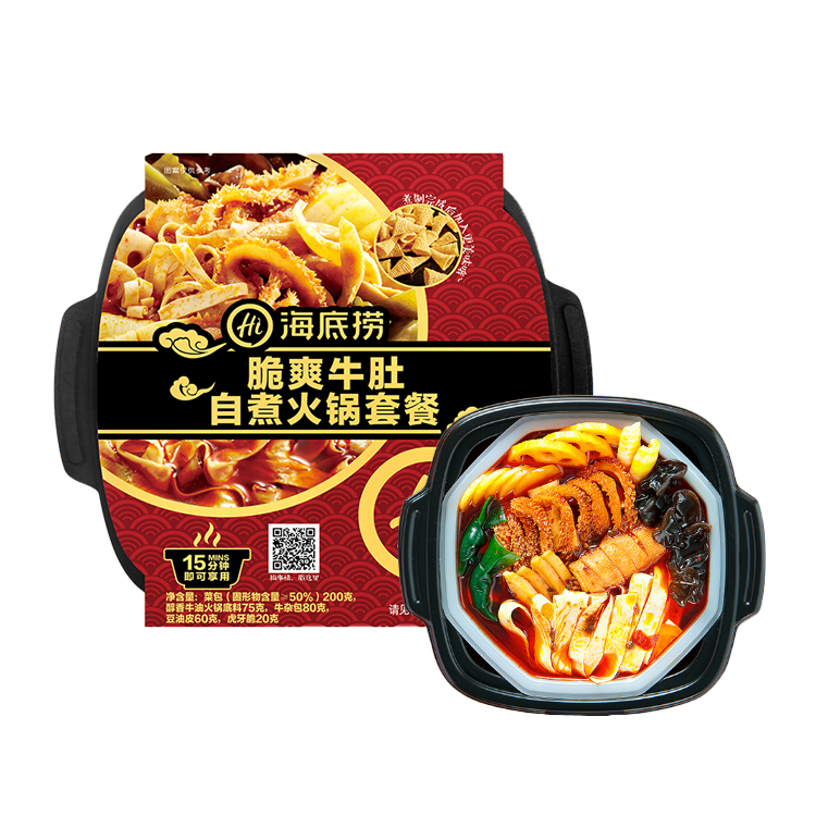 China Instant Food Crispy Beef Tripe Taset Small Self Heating Hot Pot