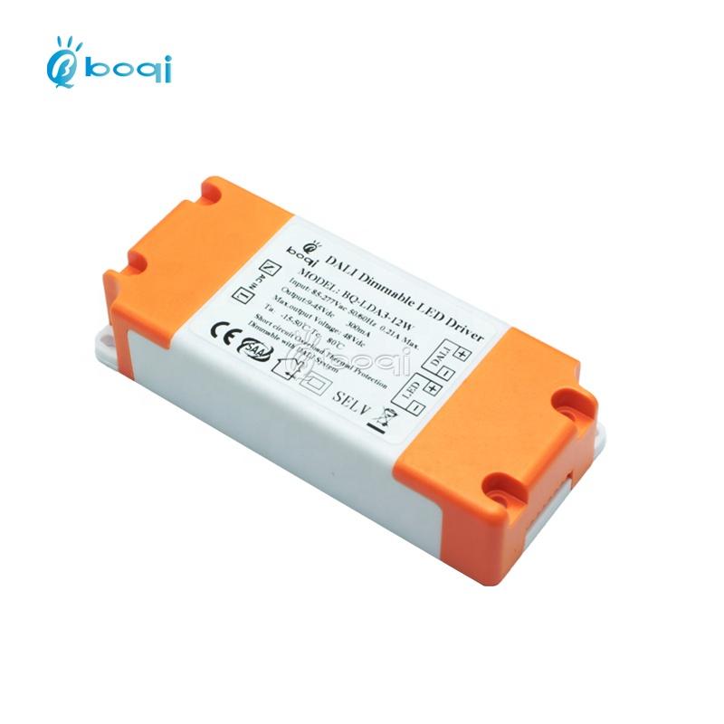 Светодиодный драйвер boqi CE FCC SAA dali с регулируемой яркостью 3 Вт 5 Вт 7 Вт 9 Вт 10 Вт 12 Вт 300 мА