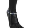 Blue-anklet