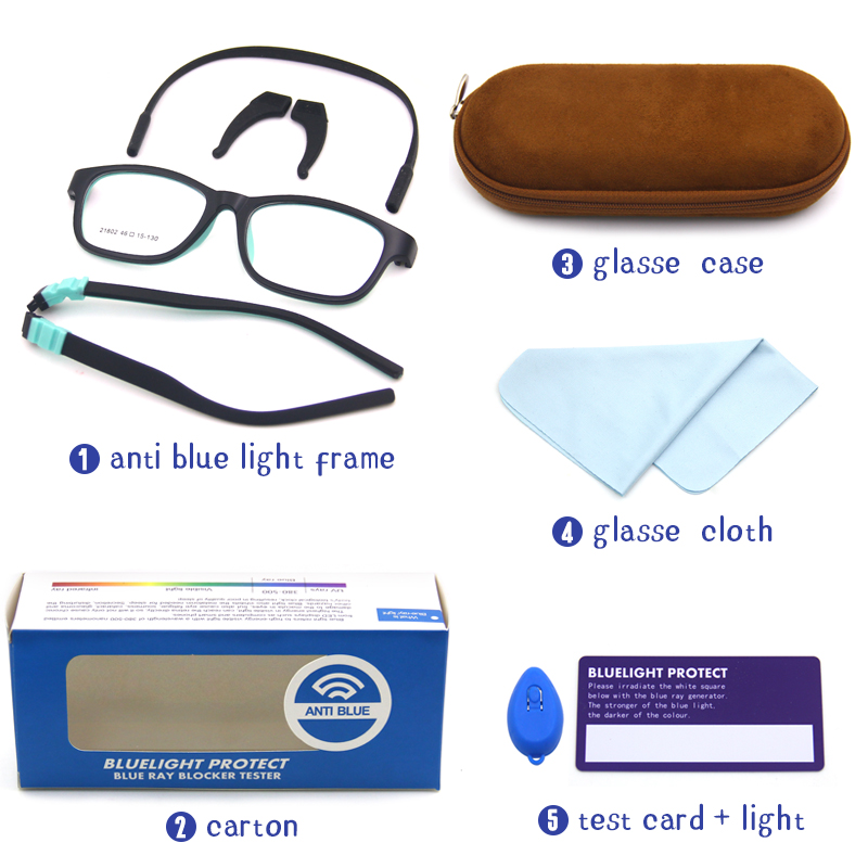 Новая конструкция анти очки с защитой от синего света кремния для детей очки