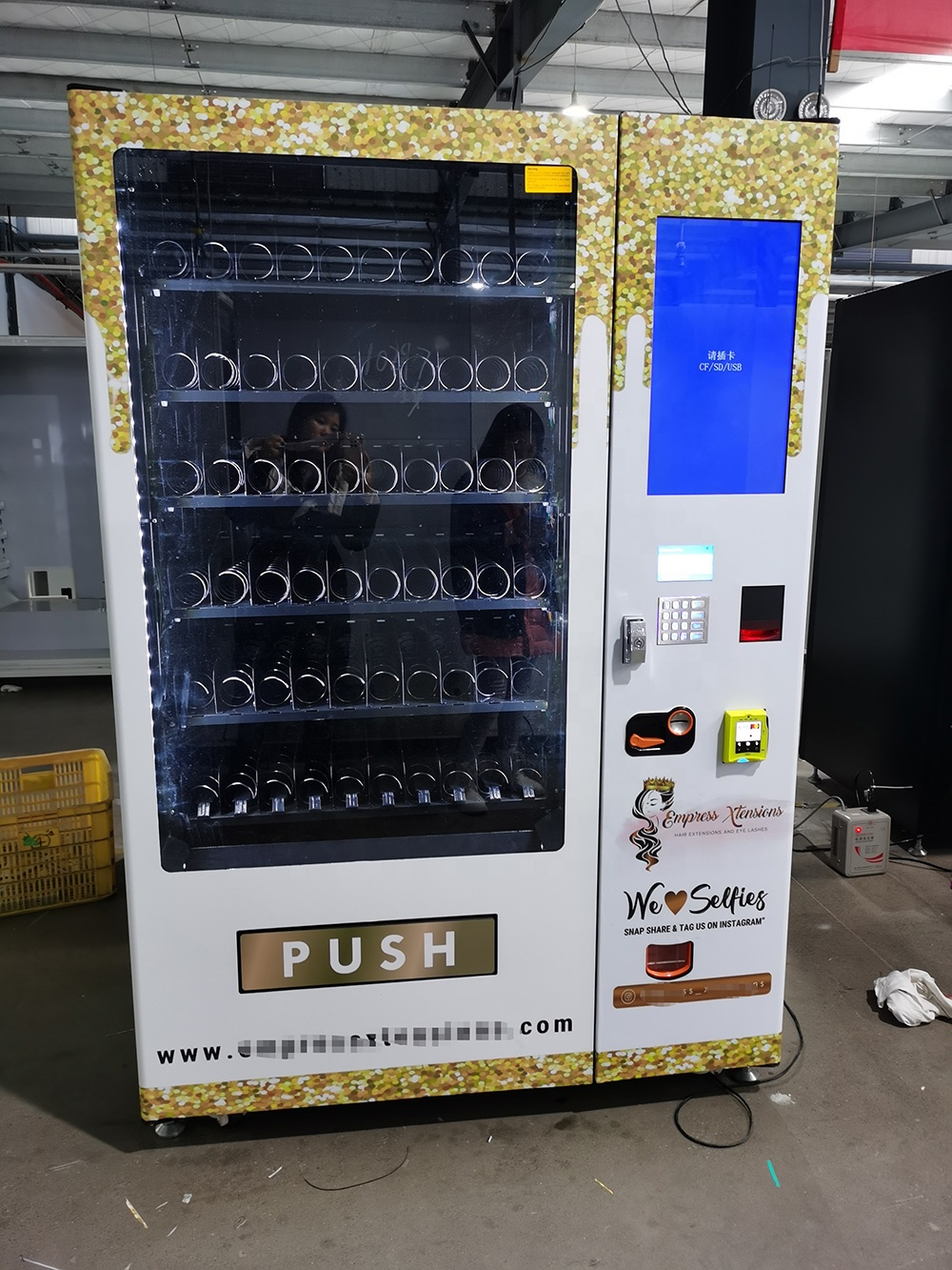 Hair Band Vending Machine for Hair and Lashes with custom wrap
