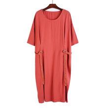 Женское платье EAM, черное платье большого размера с пряжкой по бокам, с круглым вырезом и коротким рукавом, весенне-летняя мода 2020 1U668(Китай)