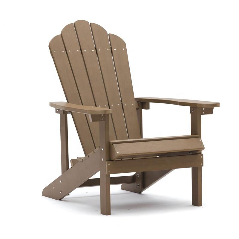 Оптовая продажа, высококачественные водонепроницаемые современные пластиковые деревянные складные стулья Adirondack для уличного сада