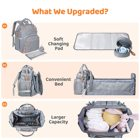Bags Baby Bag Travel Customized Waterproof Capacity Maternity Mummy Nappy Bags Baby Diaper Bag Backpack Foldable Bed With Changing Station