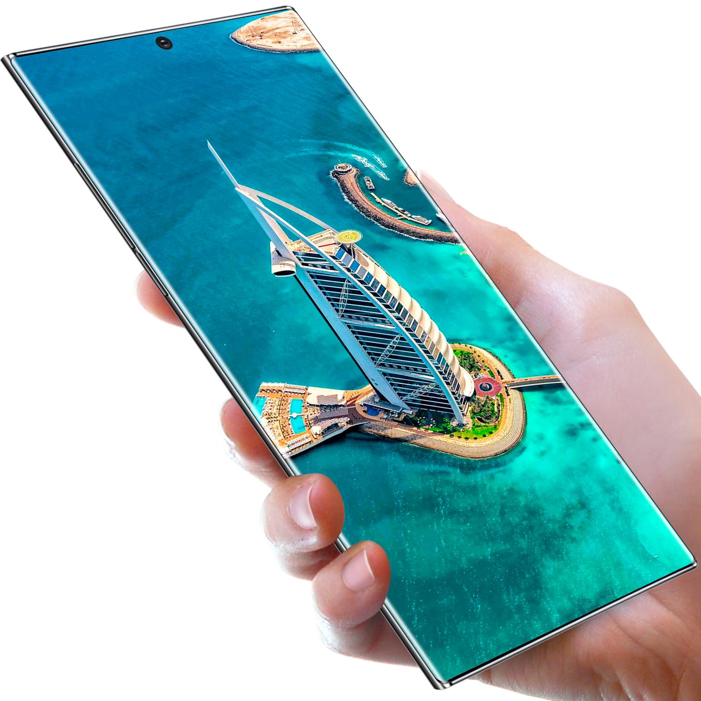Горячая Распродажа; Новинка; Note20 + 12 Гб + 512 Гб Смартфон 6,9 дюймов AMOLED экран Android 10,0 4gtelephone смартфон с уход за кожей лица разблокировка по отпечатку пальцев