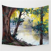Настенный подвесной гобелен «река», «лес», покрывало, домашний декоративный коврик для йоги, пикника, пляжное полотенце(Китай)