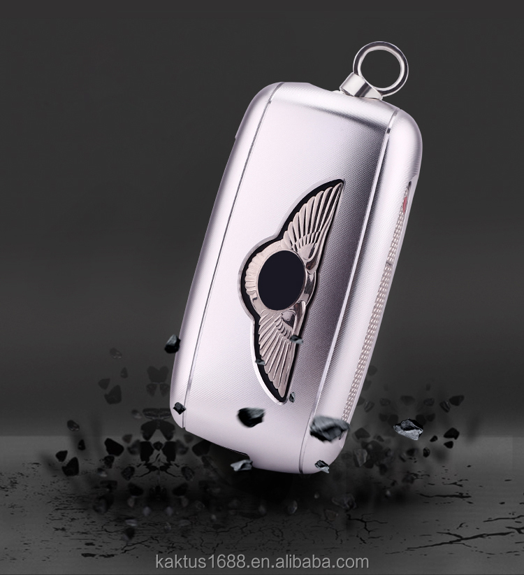 Чехол для автомобильного ключа Bentley Bentayga Continental, защитный чехол из алюминиевого сплава, чехол для автомобильного ключа