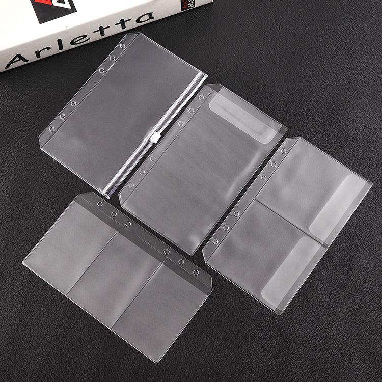 Loose Leaf Bags Cash Budget Envelopes System A6 Budget Binder Ring Binder With Binder Pockets