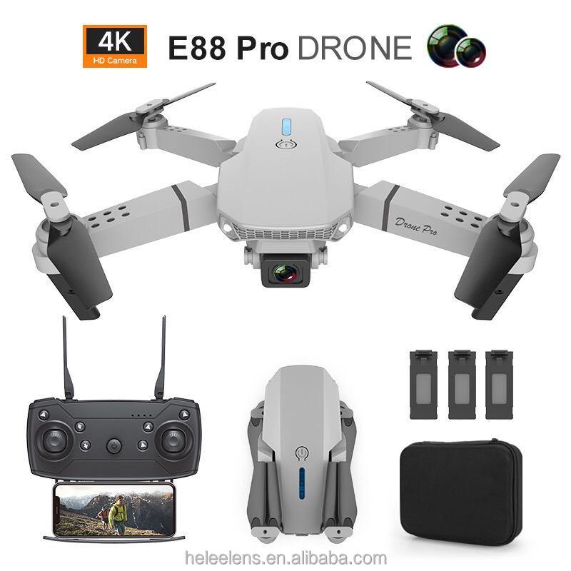 New E88 GPS Foldable drone with Dual 4k HD wide-angle camera Wifi FPV drones