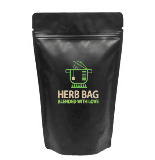 RY Accept Customised Herb Food Dried Food Bags Black Aluminum Foil Stand Up Pouch