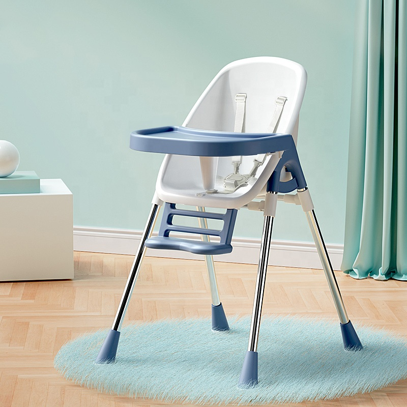 New Modern High Chairs Kids Feeding Chair 2 In 1 Baby Chair With 2 Trays