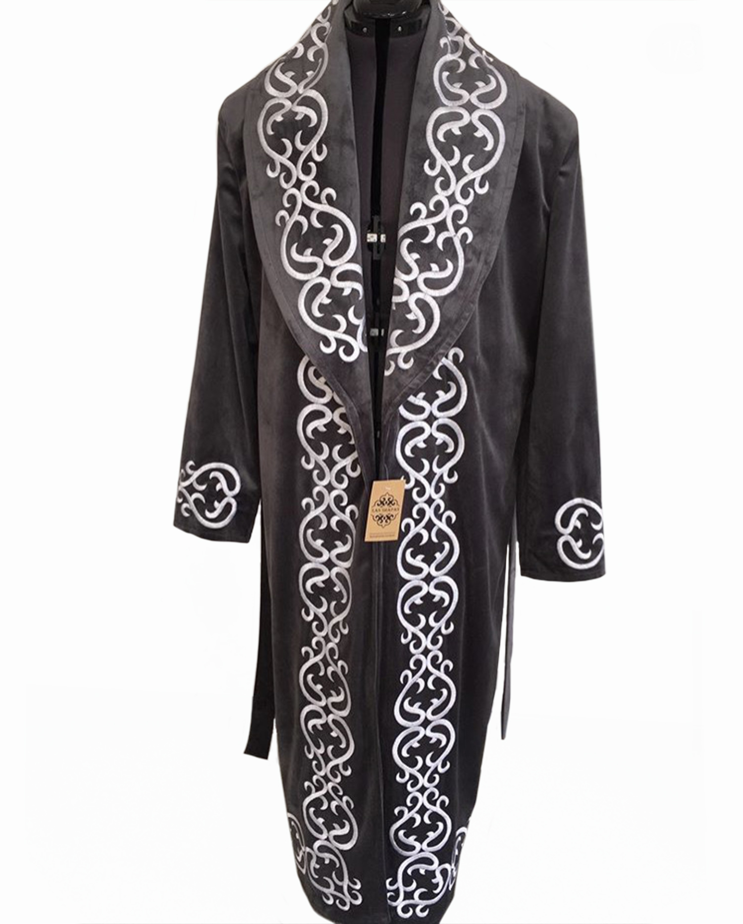 Kazakh National Chapan Men Clothing Long Sleeves