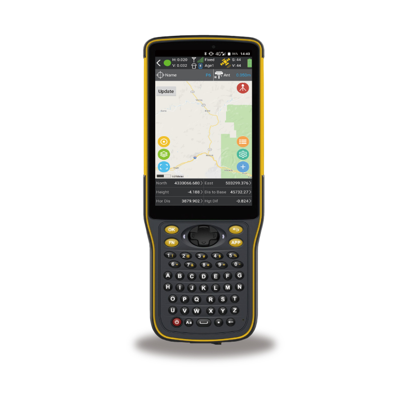 Rugged IP64 Android 7.0 PDA 4G WIFI Bluetooth GPS GMS barcode scanner and GPS tracking PDA for data collector surveying