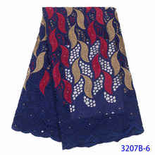 Кружевная ткань NIAI, швейцарская вуаль из 100% хлопка в африканском стиле для свадебного платья, XY3207B-1, 2019(Китай)