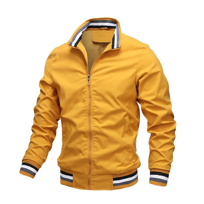 Wholesale Spring&Autumn Stand Collar Jogging Tennis Golf Men Outdoor Casual Sports Jacket