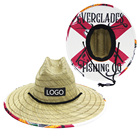 Hat Wholesale Visor Straw Hat JAKIJAYI Custom Made Unisex Cooling Lifeguard Hat Sun Protection Straw Visor Hat Wholesale