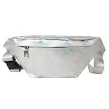 Женская поясная сумка Fanny для путешествий на открытом воздухе, Повседневная нагрудная лазерная сумка на плечо, сумка на талию для девушек, м...(Китай)