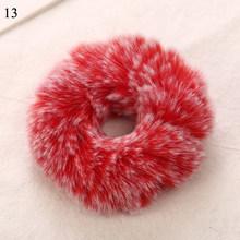 Эластичные резинки для волос 1х мягкие, пушистые, из искусственного меха, благородные, 2019(Китай)