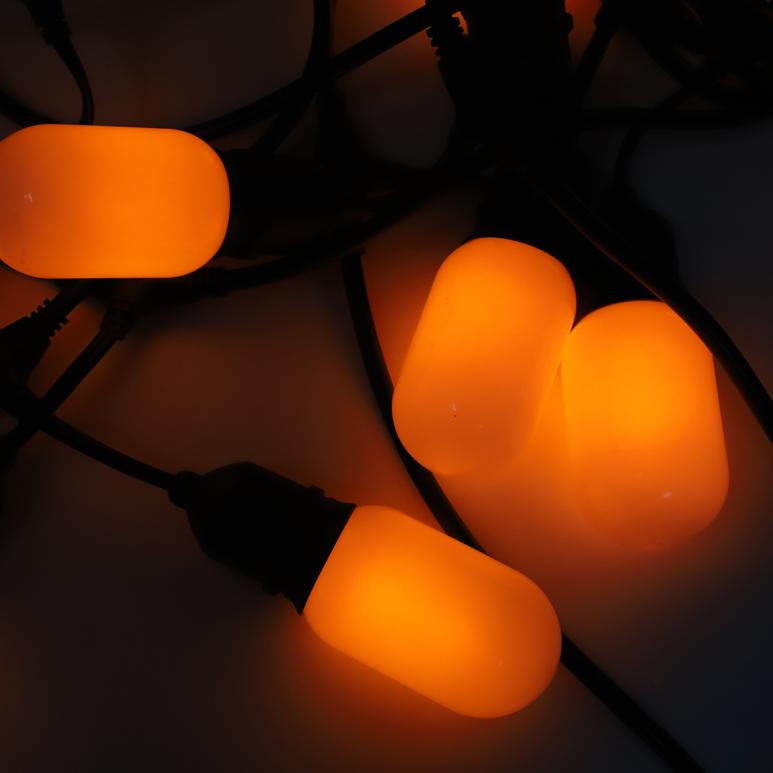 Водонепроницаемое декоративное освещение, В переменного тока, рождественские светодиодные лампочки с эффектом пламени, светодиодная гирлянда с мерцающим пламенем