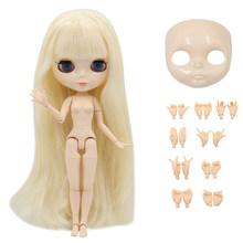 Заводская кукла Blyth, белая кожа, блестящее лицо, соединение тела с набором рук A & B 1/6, модная Кукла, подходит для самостоятельного макияжа, спе...(Китай)