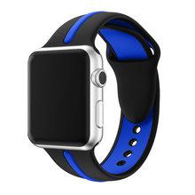 Силиконовый ремешок JANSIN для apple watch series 5 4 3 2, спортивный ремешок для iwatch 38 мм/42 мм/40 мм/44 мм, цветной сменный ремешок(Китай)