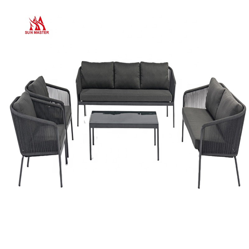 Садовые наборы для отдыха, полный набор столов и стульев, уличная мебель, стол, мраморный металлический обеденный диван, стул, набор