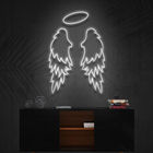 12v Light Drop Shipping NO MOQ Wall Mounted 12V Flexible Light Acrylic Letter Angel Wings Custom Neon Signs