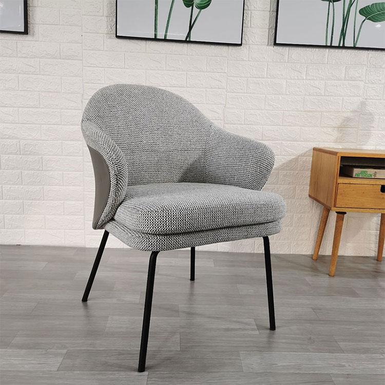 Nordic dining designer chair light luxury cloth art anji dining  creative simple modern hotel restaurant  iron chair