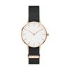 Часы с белым циферблатом, розовое золото