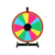 Heavy type stable iron frame rotating tabletop mini spinning prize wheel of fortune for shop promotion activities