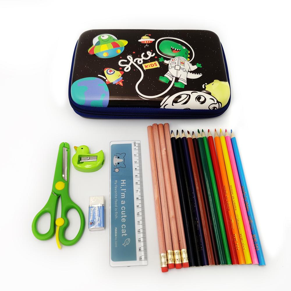 Fun 3D Cute Carton Dinosaur Rabbit Hard Top Collective Box Hardcover Pencil Case