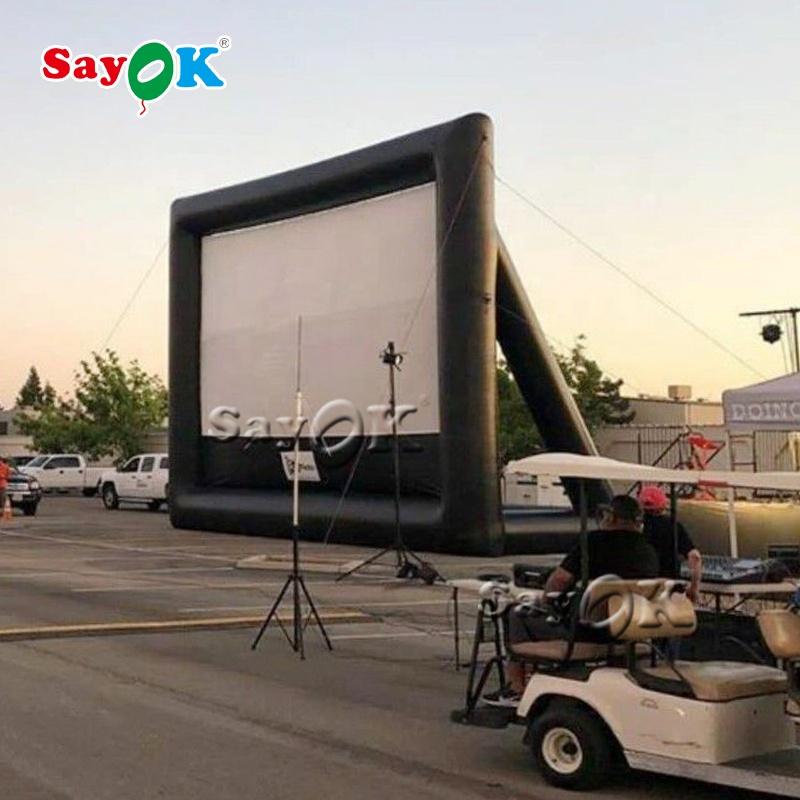 Надувные большие фильмы на открытом воздухе, надувной экран для телевизора, надувной экран для кинотеатра
