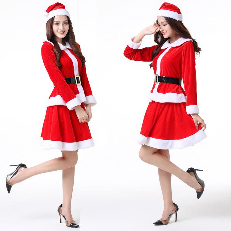 Зимний Рождественский костюм FIONTO; одежда для костюмированной вечеринки; нарядное Клубное платье; комплекты из 2 предметов для женщин; костю...(Китай)