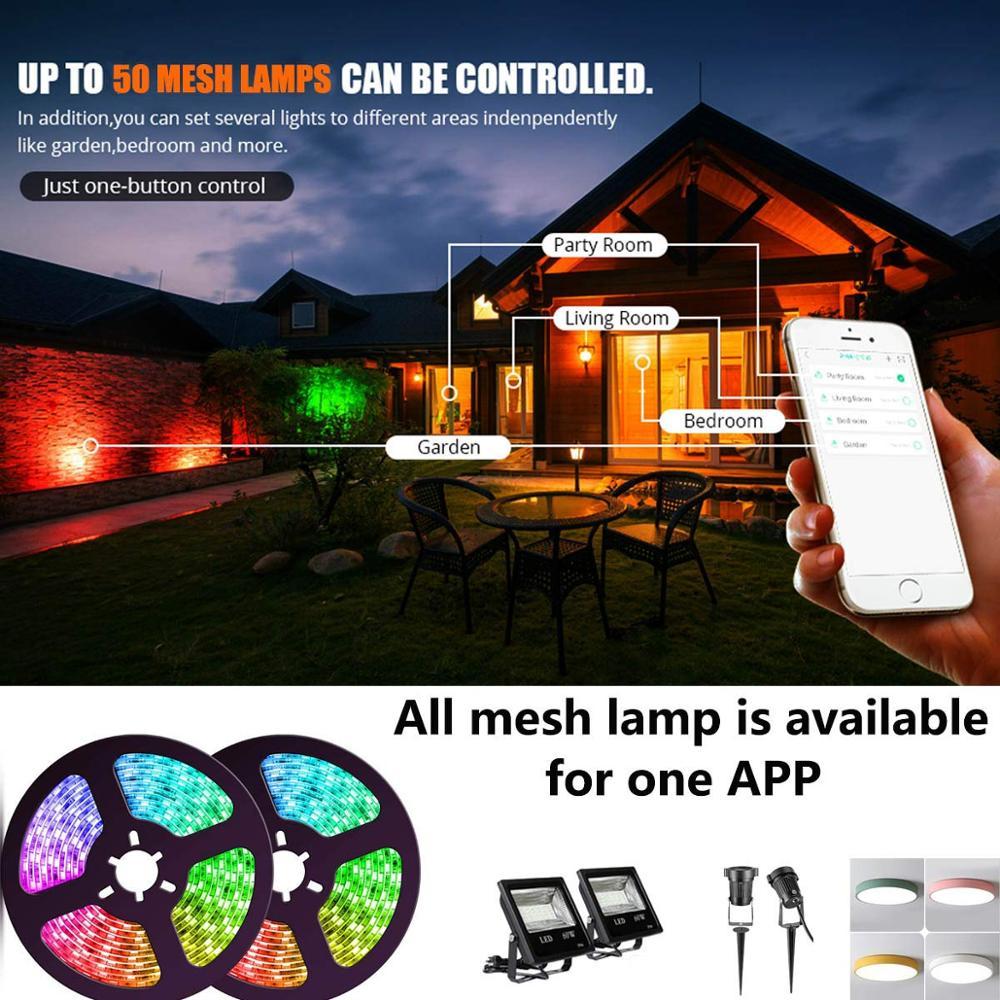 SMD5050 flexible led strip 16.4ft 300leds smart phone controlled music sync light kit waterproof rgb led strip light