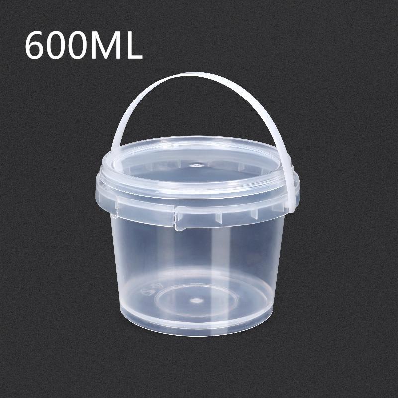 UMETASS оптовая продажа 600 мл высококачественные прозрачные пластиковые ведра с крышками