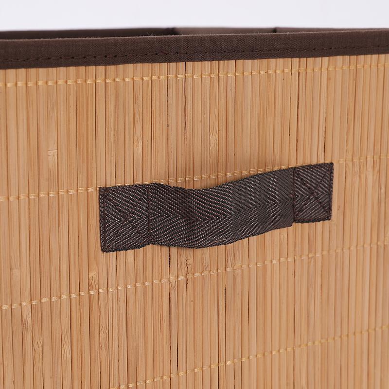 Бамбуковые домашние складные корзины для хранения