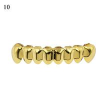 Хип-хоп золотые зубы Топ и низ зубные рот Панк зубы шапки Косплей вечеринка зуб рэппер ювелирные изделия подарок аксессуары Золото Серебро ...(Китай)