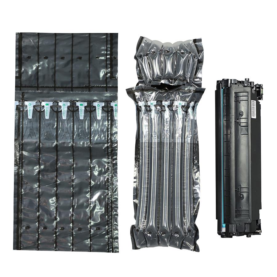 Черная воздушно-пузырчатая пленка для защитной сумки картриджа с тонером, воздушная подушка
