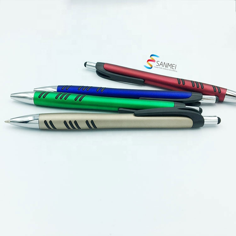 Рекламная пластиковая сенсорная ручка с пользовательским логотипом для телефона и планшета