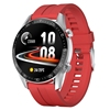 Silver Dial-Red Silicone