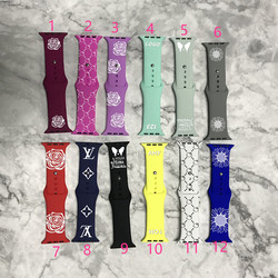2021 Новое поступление ленты силиконовый двухслойный гибкий силиконовый ремешок для часов 38 мм apple watch iwatch ремешки