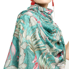 Leaf Scarf Scarf 2021 New Arrivals Fashion Women Luxury Elegant Shawl Scarves Leaf Floral Print Scarf