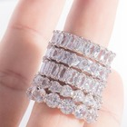 18k gold custom engagement ring diamond eternity moissanite ring band for women wedding design 2020