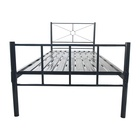 Round Bed Bedroom Bed High Quality Bedroom Furniture Round Tube Black Single Metal Bed Frame For Sale
