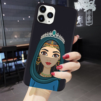 Hijab Girl Muslim Islamic Gril Eyes Arabic soft Cute Phone Case For iPhone X 11PRO MAX 8 7 6S Plus XS MAX 5S SE XR Mobile Cover