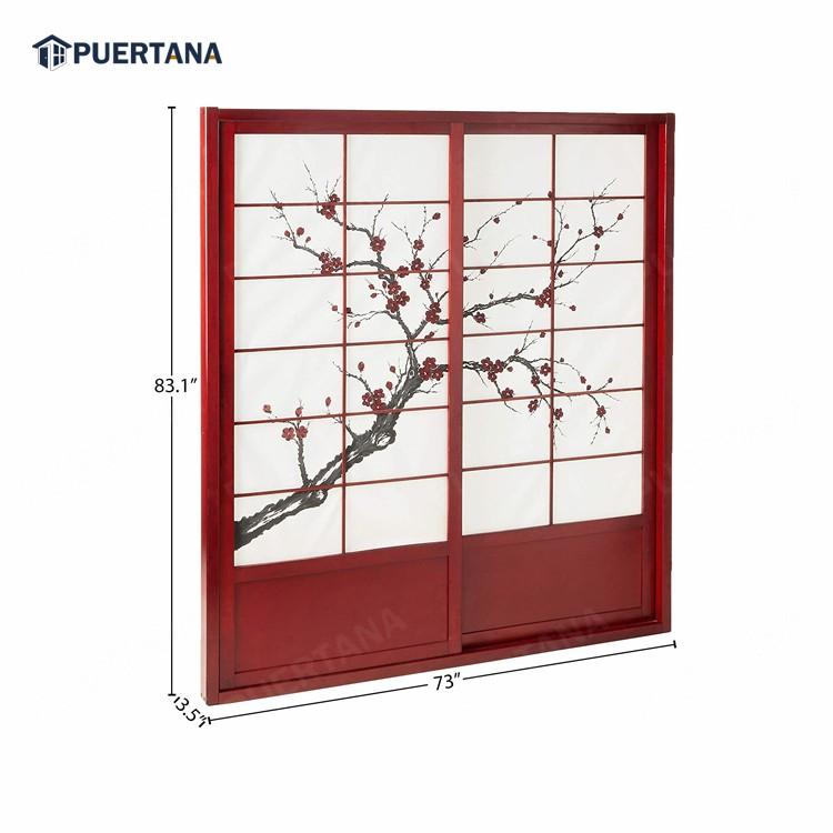 Внутренняя деревянная японская система раздвижных дверей Shoji