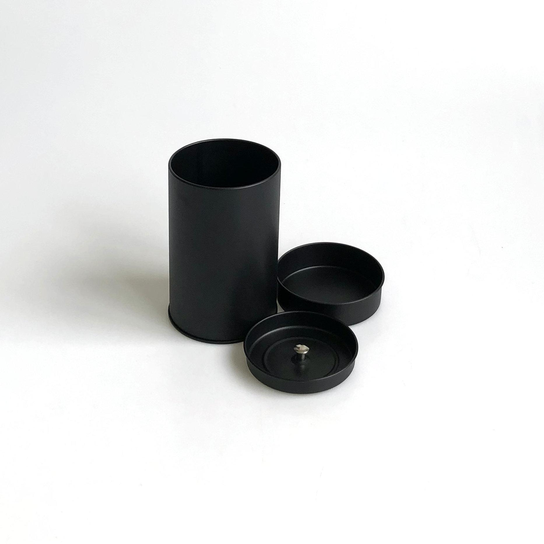 Оптовая продажа, пустые металлические чайные банки черного цвета для коллекции